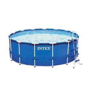 Intex 15 Ft. X 48 In. Round Metal Frame Pool Set | AmeZam Shipping Zambia