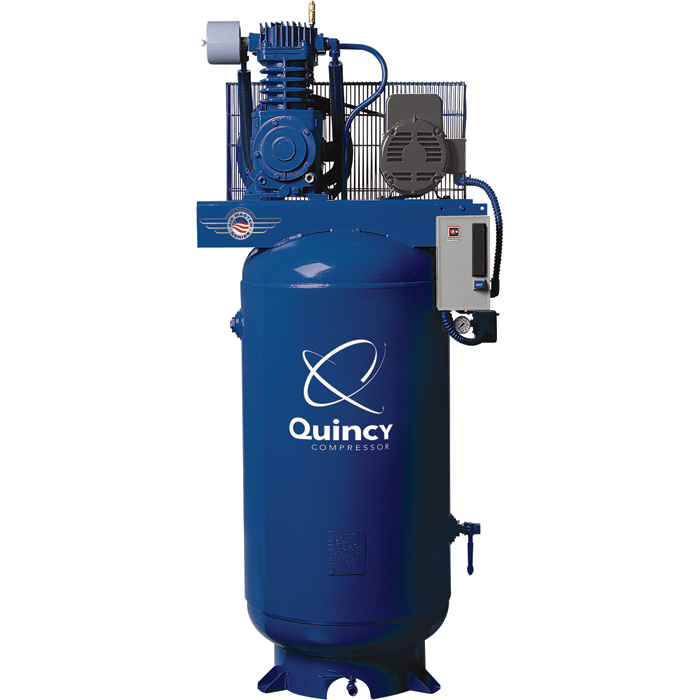 Quincy compressor reciprocating air compressor 7 5 hp 230 for 5hp air compressor motor single phase