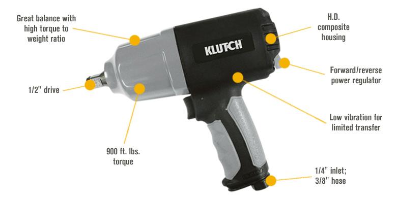Klutch Heavy-Duty Air Impact Wrench1